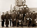 U.S.S. Brooklyn, Captain Francis Augustus Cook and officers