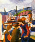 Children at the Harbour August Macke