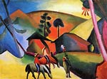 Indian on horses August Macke