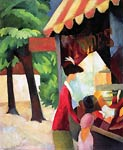 In Front of the Hat Shop August Macke