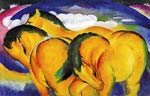 The Small Yellow Horses Franz Marc