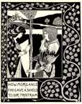 How morgan le fay gave a shield to sir tristram, Aubrey Beardsle