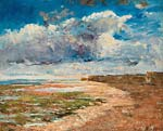 Dark clouds over the cliffs, Luc sur Mer