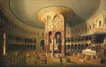 Interior of the rotunda at renelagh by Canaletto