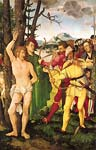 Altarpiece with the martyrdom of st sebastian 1507 by Hans Baldu