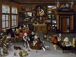 The Archdukes Albert and Isabella Visiting a Collector's Cabinet
