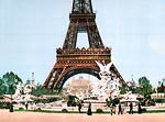 Eiffel Tower and fountain, Exposition Universal, 1900, Paris, Fr