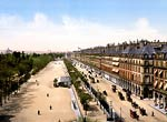 Avenue de la opera and the garden of the Tuileries, Exposition U