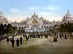 Le Chateau d'eau and plaza, Exposition Universal, 1900, Paris, F