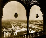 Paris Exposition Paris from arched balcony of Eiffel Tower, 1889