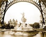 Fountain St. Vidal, Eiffel Tower, Paris Exposition, 1889