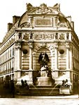 Fountain de Saint Michael Baldus, Edouard, 1813-1889, photograph