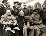 Winston Churchill, Franklin Roosevelt, Marshal Joseph Stalin