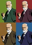 Psychologist Sigmund Freud Pop Art