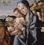 The Virgin and Child with a Saint