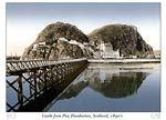 Dumbarton Castle from the Pier, Scotland