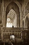 Glasgow Cathedral. Choir, looking West (Interior)