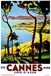 Cannes France (French Riviera) Vintage Travel poster