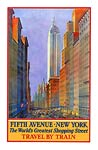 5th Avenue New York Vintage Travel Poster