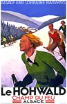 le Hohwald by Train, Ski France tourism poster