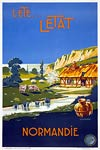 Normandie, Normandy, France travel poster