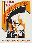 Come To Palestine vintage travel poster