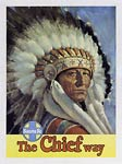 Santa Fe, The American Chief Way, tourist poster