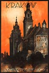 Krakow, Poland, French travel poster