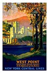 West Point US Military academy vintage travel poster