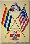 Emblems of liberty and humanity Red Cross WWI Poster