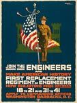 Join the engineers and make American history WWI Poster