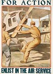 For action enlist in the Air Service World War I Poster