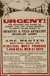 Infantry and field artillery, regular Army WWI Poster
