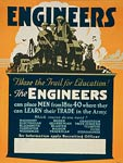 U.S. Army engineers recruiting poster World War One Poster