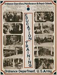 Education - training Ordnance operations US Army WWI Poster