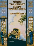 Motor Transport Corps training school WWI Poster
