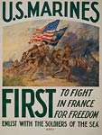 U.S. Marines - first to fight in France World War I Poster