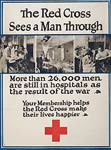 26,000 men are in hospitals as a result of the war WWI Poster