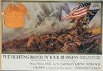 Put fighting blood in your business World War I Poster