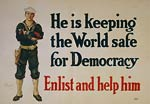 Keeping the world safe for democracy Sailor WWI Poster