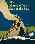 Join the U.S. Marine Corps Soldiers of the sea! WWI Poster
