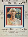 Your country needs you - join the Navy! WWI Poster