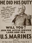 He did his duty (George Dewey) will you? U.S. Marines WWI Poster