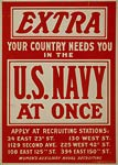 Your country needs you in the U.S. Navy World War I Poster