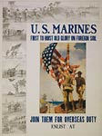 Old Glory on foreign soil US Marines WWI Poster