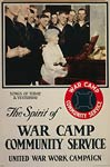 Spirit of war camp community service World War I Poster
