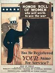 Honor roll of women - Win the war - World War One Poster