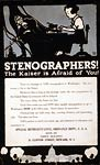 Stenographers - The Kaiser is afraid of you! World War I Poster