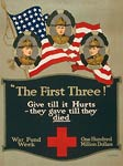 Hay, Enright, and Gresham American Flag WWI Poster