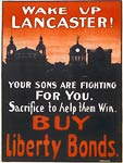 Wake up Lancaster Your sons are fighting for you WWI Poster